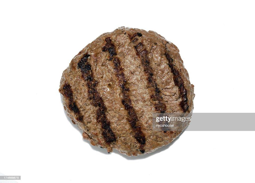 Grilled hamburger patty isloated