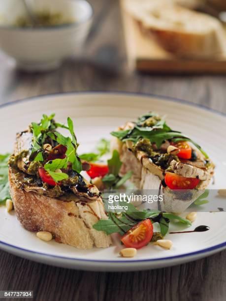 grilled mushroom bruschetta