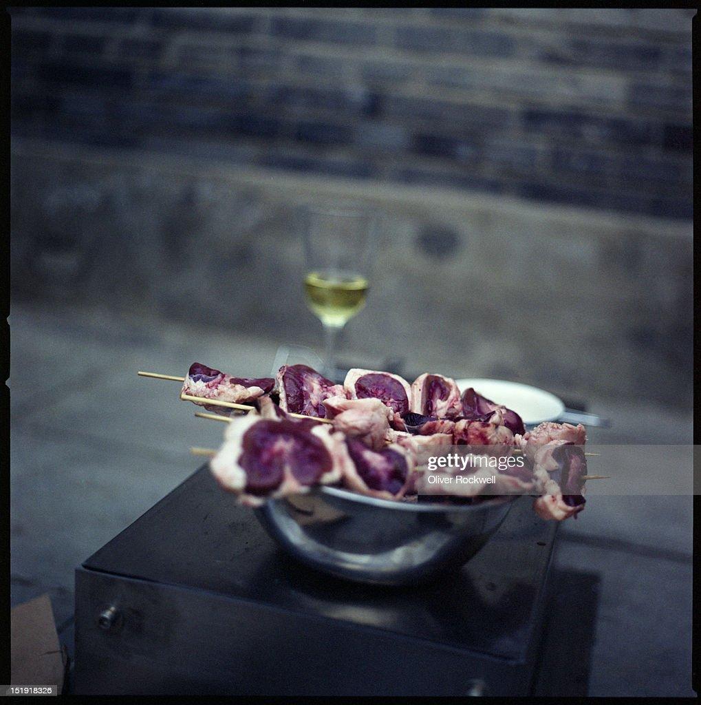 Grilled mutton kidneys : Stock Photo