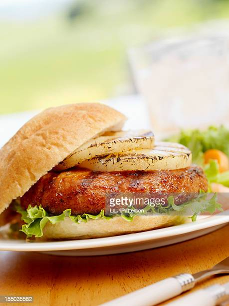 BBQ Grilled Pineapple Burger