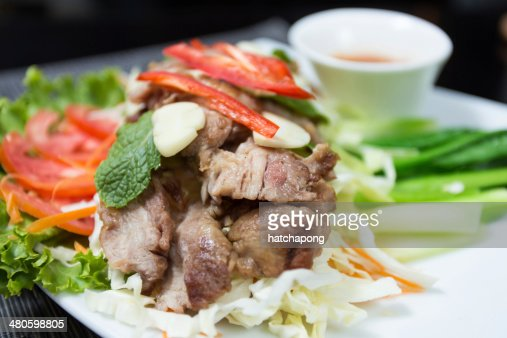 Grilled pork : Stock Photo
