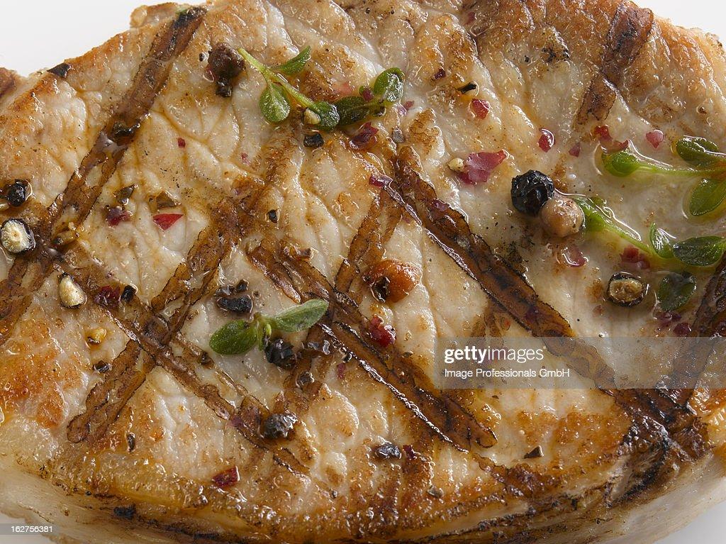 Grilled pork steak : Stock Photo
