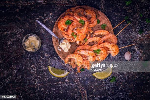 Grilled Prawn Shrimps with Fresh Lemon
