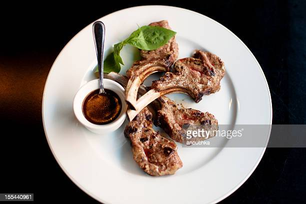 Grilled Rack of Lamb served with rosemary sauce