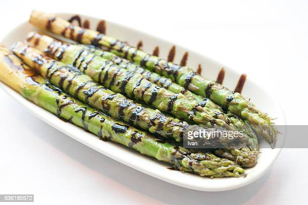 Grilled, Roasted Asparagus with olive oil and Balsamic Red Wine Vinegar