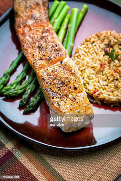 Grilled Salmon Filet Dinner