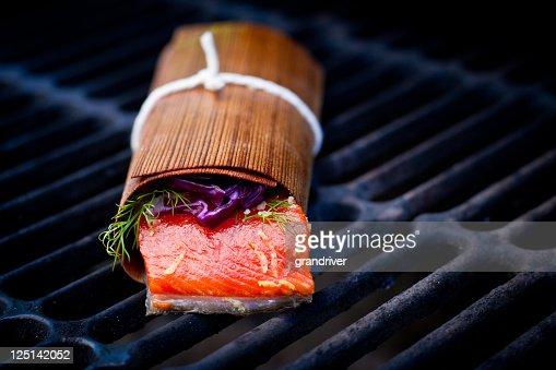Grilled Salmon Filet in Cedar Paper