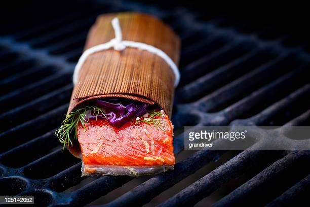 Grilled Salmon Filet in Cedar Paper