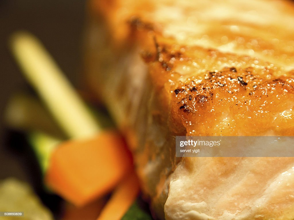 Grilled Salmon : Stock Photo