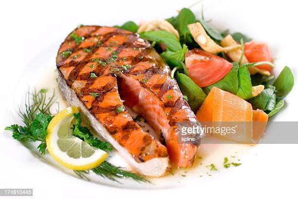 Darne de saumon grillé