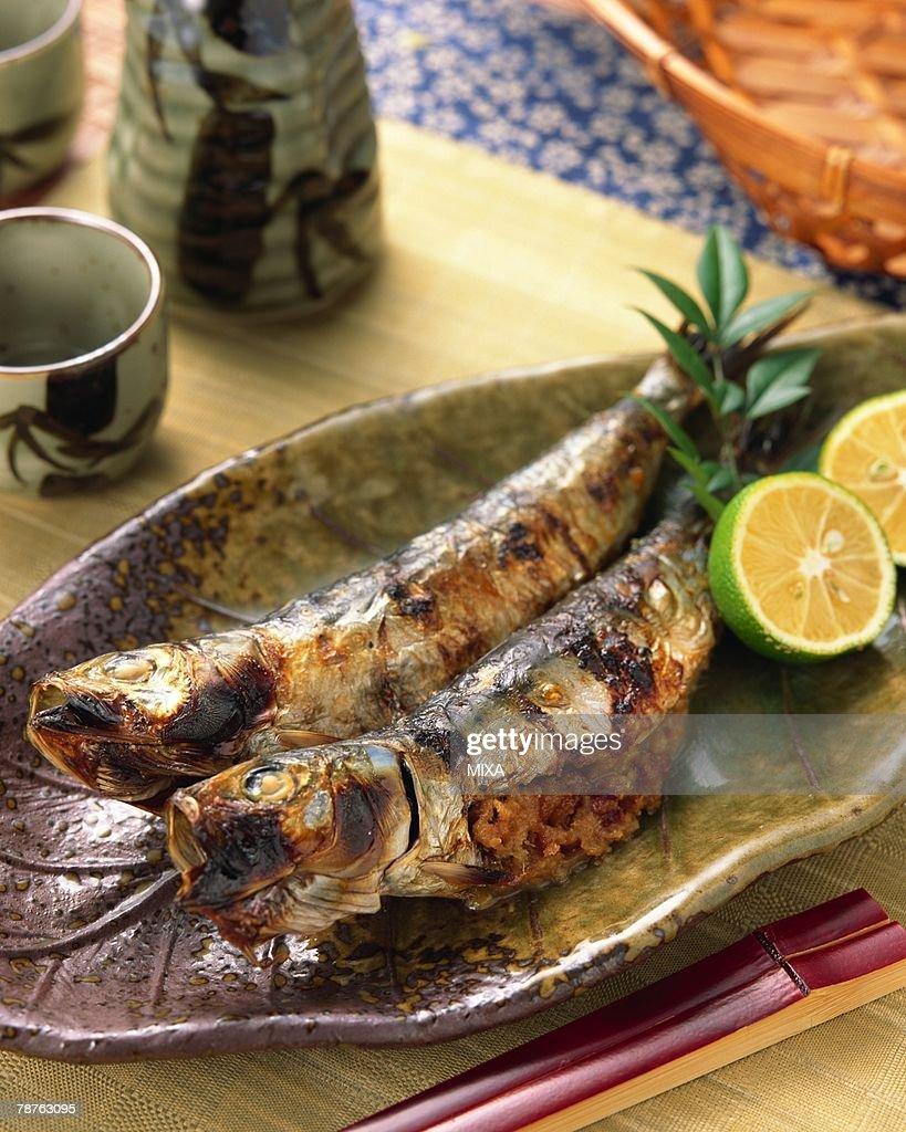 Grilled sardine : Stock Photo