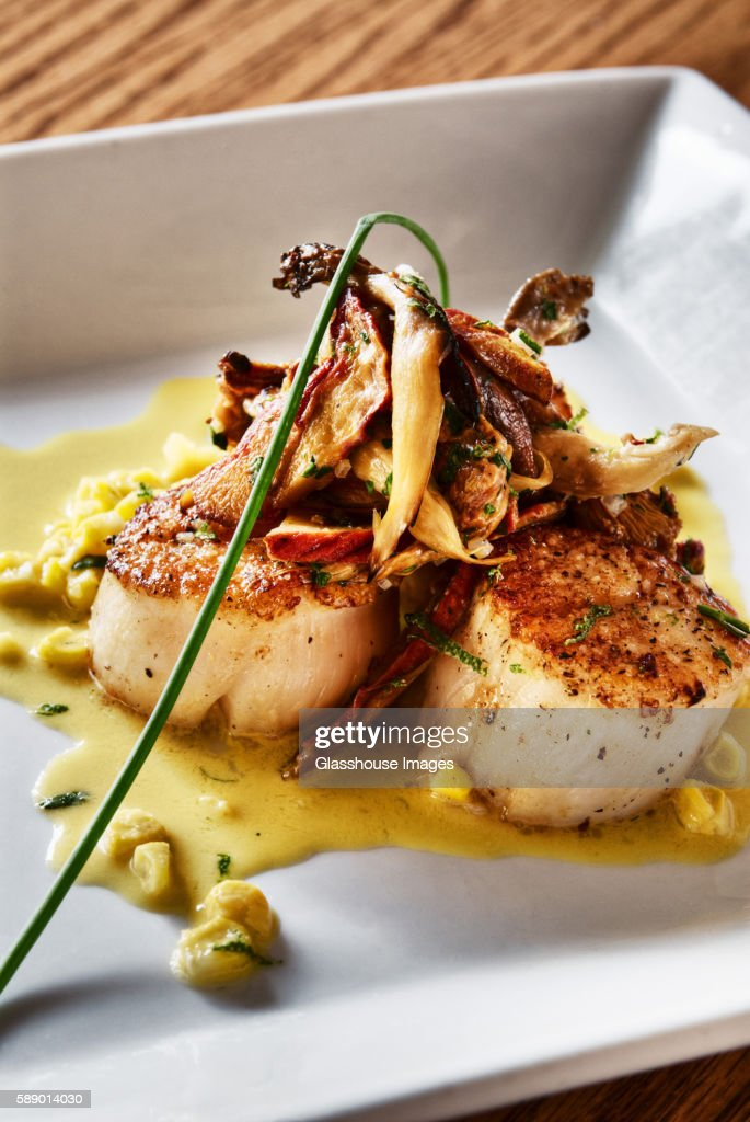 Grilled Scallops, Close Up