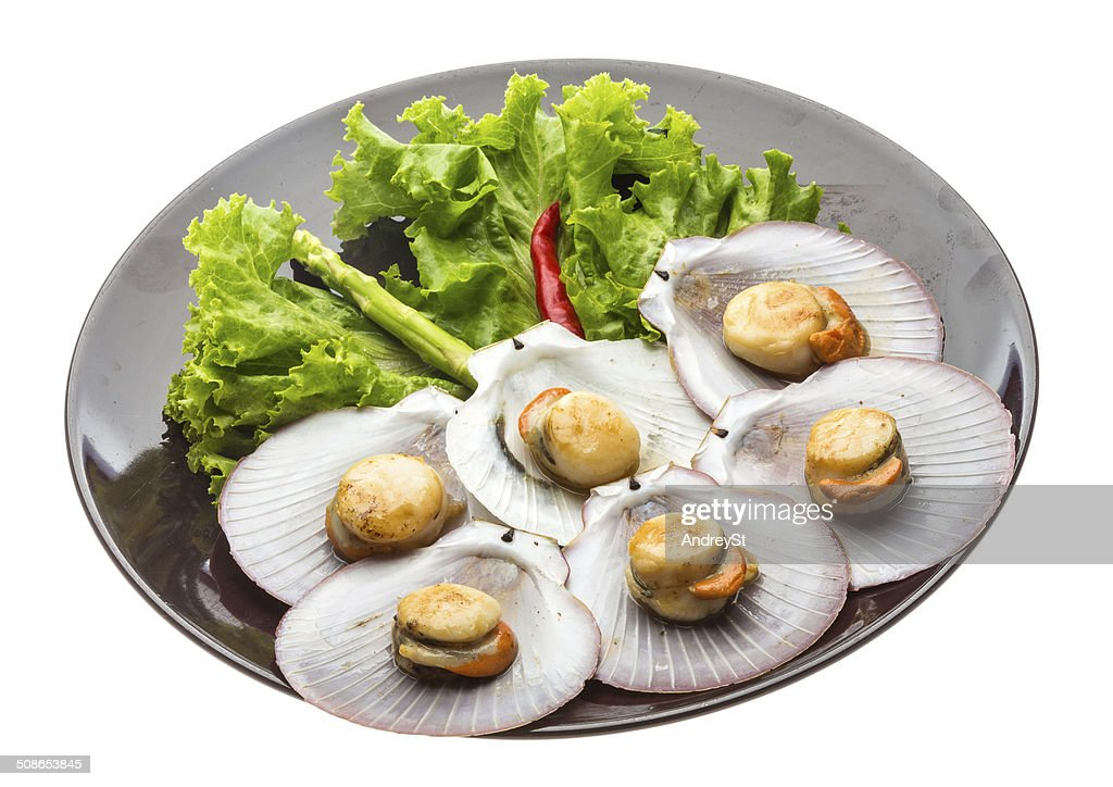 Grilled scallops : Stock Photo