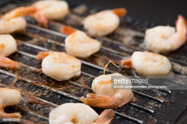 Grilled sea water prawns.