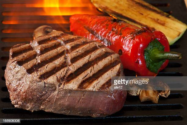 Grilled Steak and vegetable