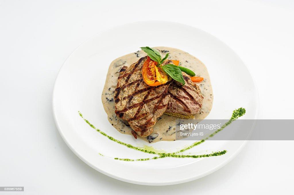 Grilled steak : Stock Photo