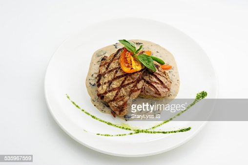 Grilled steak : Stock Photo