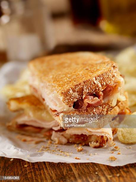 Grilled Turkey, Bacon and Swiss Sandwich
