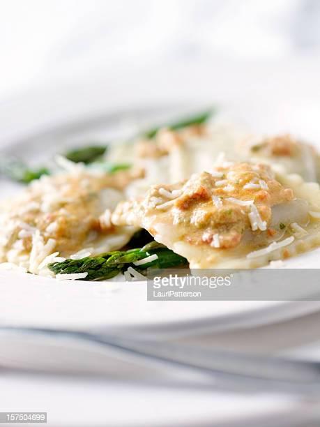 Grilled Tuscan Vegetable Romano Ravioli