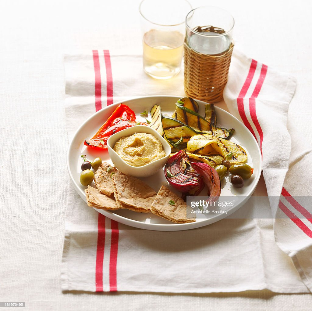 Grilled Vegetable Plate : Stock Photo