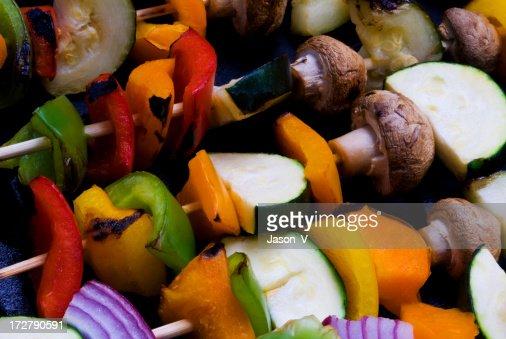 Grilled Veggies on Skewers : Stock Photo