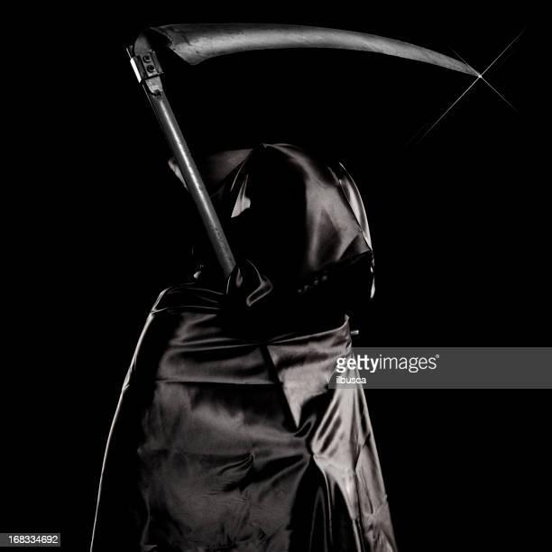 Ange de la mort portrait sur fond noir