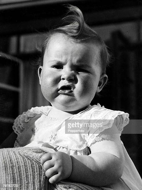 Grimacing baby with large curl and lace dress circa 1950 Classic Collection Page 6 10367829