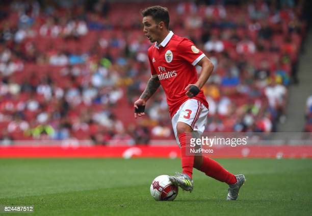 Grimaldo of Sporty Lisboa e Benfica during Emirates Cup match between RB Leipzig against Benfica at The Emirates Stadium in north London on July 30...