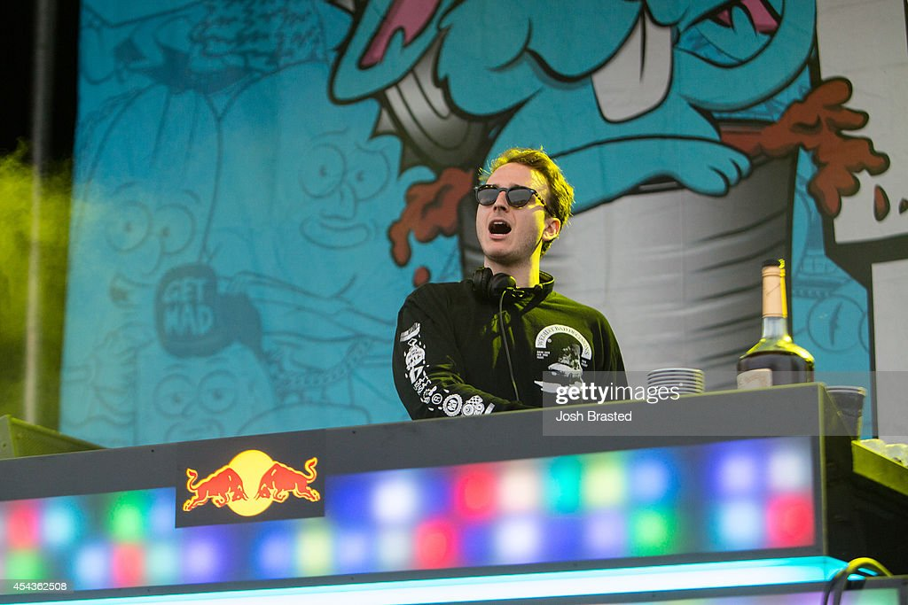 RL Grime performs at Mad Decent Block Party at Mardi Gras World on August 29, 2014 in New Orleans, Louisiana.