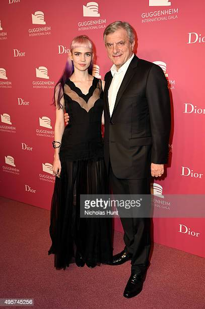Grimes and Sidney Toledano Dior attend the 2015 Guggenheim International Gala PreParty made possible by Dior at Solomon R Guggenheim Museum on...