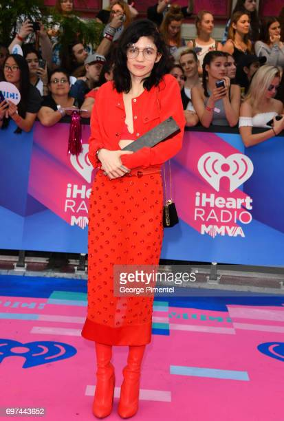 Grimes arrives at the 2017 iHeartRADIO MuchMusic Video Awards at MuchMusic HQ on June 18 2017 in Toronto Canada