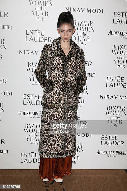 Grimes attends Harper's Bazaar Women Of The Year Awards at Claridge's Hotel on October 31 2016 in London England