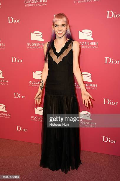Grimes attends the 2015 Guggenheim International Gala PreParty made possible by Dior at Solomon R Guggenheim Museum on November 4 2015 in New York...