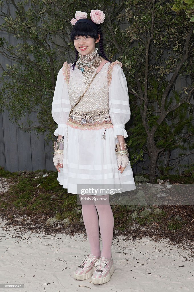 Grimes attends the Chanel Spring/Summer 2013 Haute-Couture show as part of Paris Fashion Week at Grand Palais on January 22, 2013 in Paris, France.