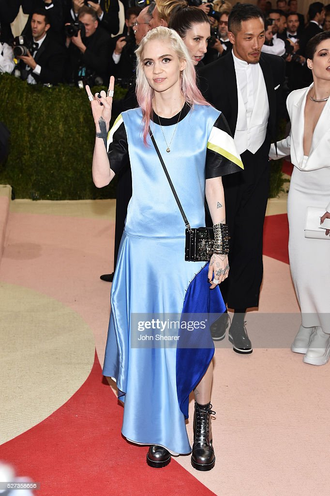 Grimes attends the 'Manus x Machina: Fashion In An Age Of Technology' Costume Institute Gala at Metropolitan Museum of Art on May 2, 2016 in New York City.