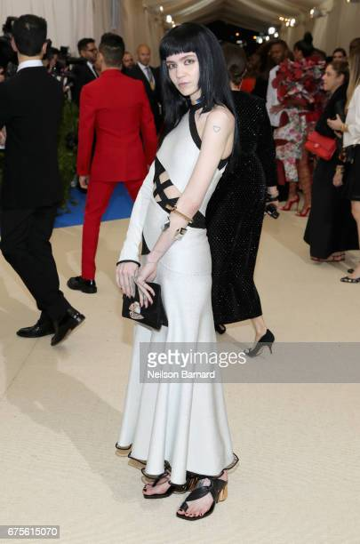 Grimes attends the 'Rei Kawakubo/Comme des Garcons Art Of The InBetween' Costume Institute Gala at Metropolitan Museum of Art on May 1 2017 in New...