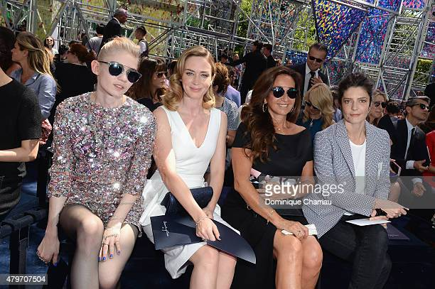 Grimes Emily Blunt guest and Chiara Mastroianni attend the Christian Dior show as part of Paris Fashion Week Haute Couture Fall/Winter 2015/2016 on...