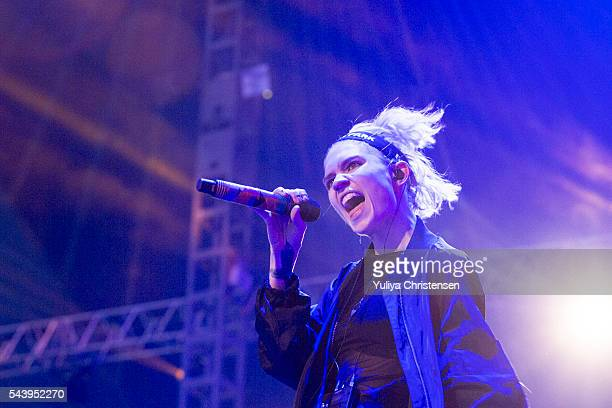 Grimes performs at Roskilde Festival on June 30 2016 in Roskilde Denmark