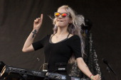Grimes performs during 2014 Pitchfork Music Festival at Union Park on July 20 2014 in Chicago Illinois