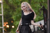 Grimes performs during Pitchfork Music Festival at Union Park on July 20 2014 in Chicago Illinois