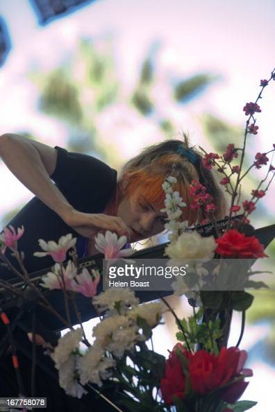 Grimes performs on stage at 2013 Coachella Music Festival on April 21 2013 in Indio California
