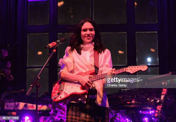 Grimes performs onstage at HM x ERDEM Runway Show Party at The Ebell Club of Los Angeles on October 18 2017 in Los Angeles California