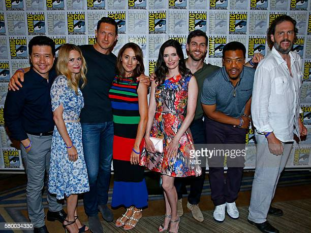 DIEGO 2016 'Grimm Panel and Press Room' Pictured Reggie Lee Claire Coffee Sasha Roiz Bree Turner Bitsie Tulloch David Giuntoli Russell Hornsby Silas...