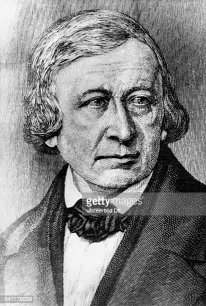 Grimm Wilhelm *2402178616121859Sprach und Literaturwissenschaftler Maerchen und Sagensammler D Portrait Stich undatiert