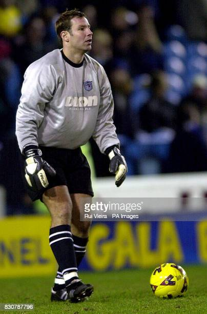 Grimsby Town's goalkeeper Danny Coyne in action during the Nationwide Division One game between Sheffield Wednesday v Grimsby Town at Hillsborough...