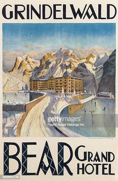 Grindelwald Bear Grand Hotel Grindelwald printed by Brügger AG Meiringen