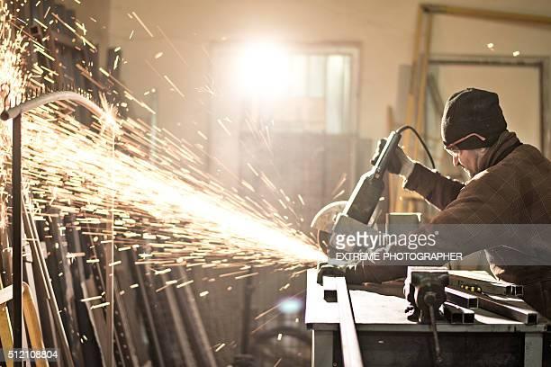 Grinder in workshop