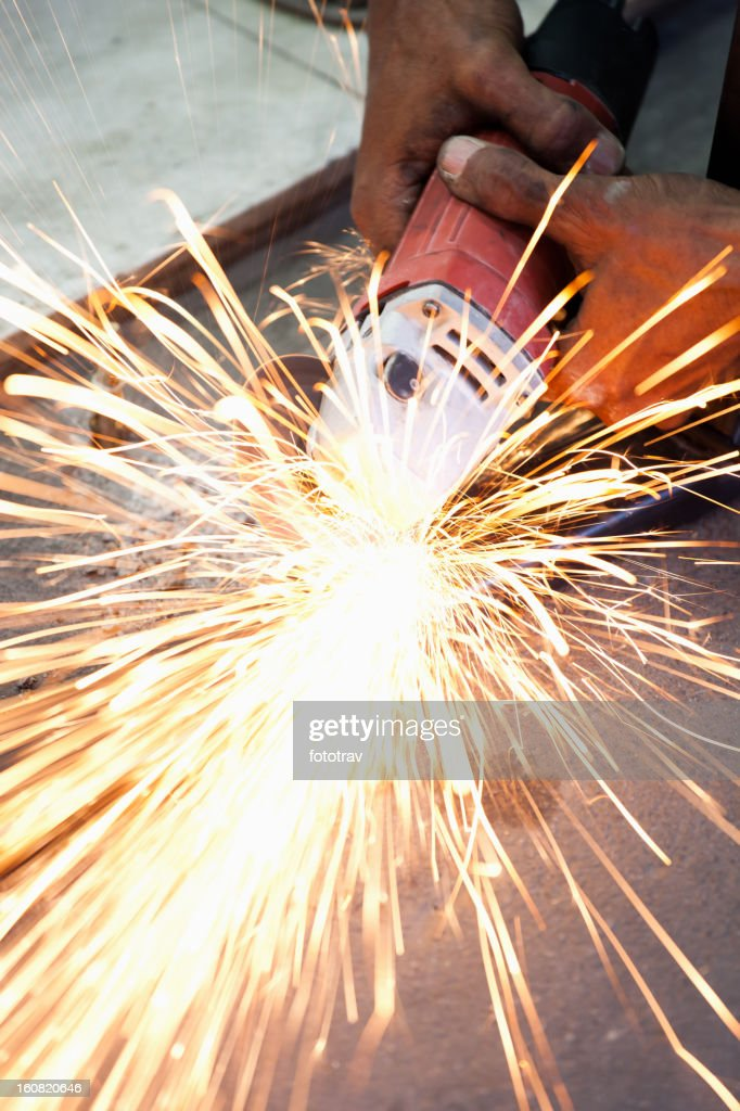 Grinder on construction site : Stock Photo