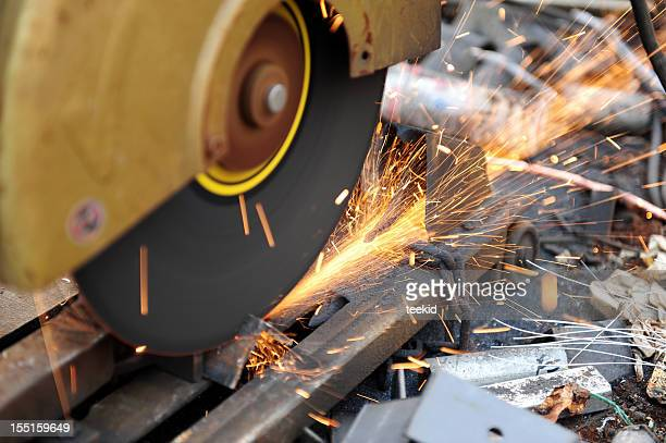 Grinder Steel Industry-Factory Grinding-Metal Sparks-Industrial Cutting Equipment