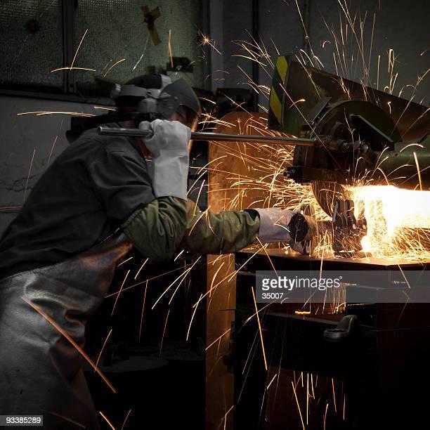 Schleifen Stahlwerker